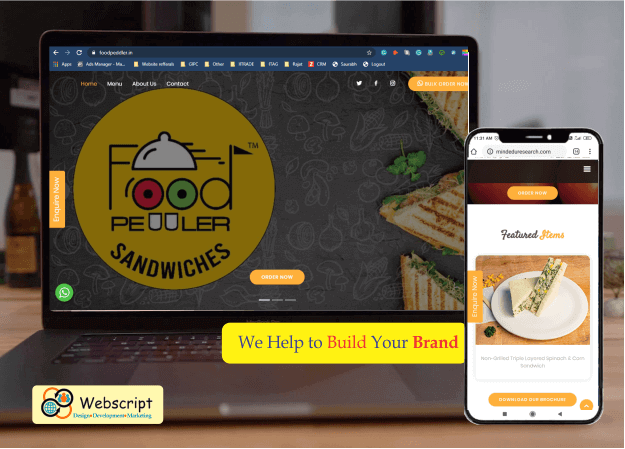 Webscript design website for Foodpeddler